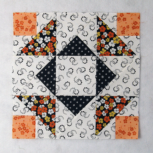 Aunt Dinah Quilt Block designed by Elaine Huff of Fabric406