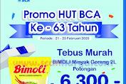 Indomaret Promo HUT BCA 63 Potongan Rp 6.300 untuk Bimoli 2 Liter dan Potongan Langsung Rp.63.000