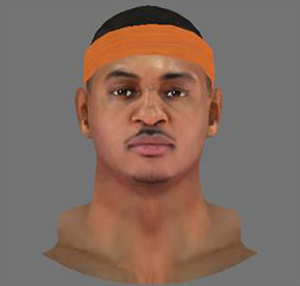 NBA 2K14 Carmelo Anthony Next-Gen Face Mod
