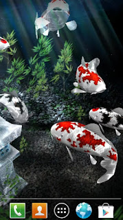 Wallpaper bergerak android My 3D Fish II v2.3 APK