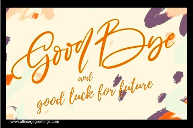 Farewell message image