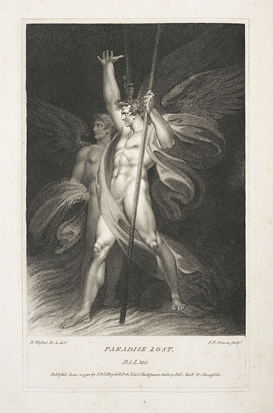 Beelzebub standing with Satan, from Paradise Lost