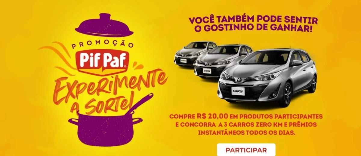 Promoção Pif Paf 2020 Carros e Prêmios Todo Dia