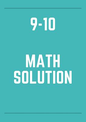 class 9-10 math solution pdf