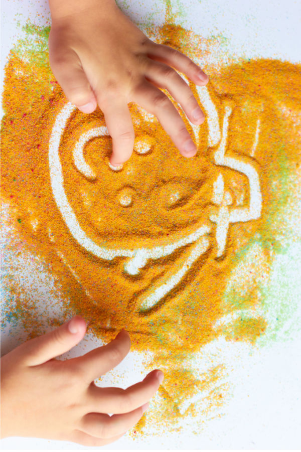 Pumpkin cloud dough recipe for kids fall sensory play activities #clouddough #clouddoughrecipe #pumpkinclouddough #fallactivitiesforkids #growingajeweledrose
