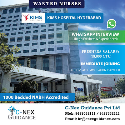 Nursing Recruitment to KIMS Hospital, Hyderabad