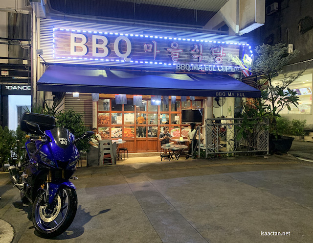 BBQ Ma Eul Cup Bab , front of the restaurant. Really feels the part, Korean feel