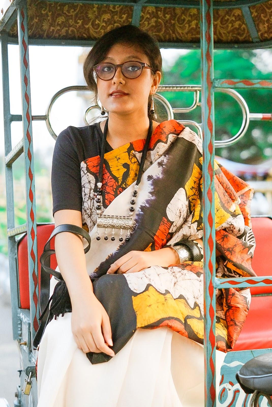 Indian saree blogger batik saree