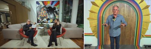 Mesquita em entrevista com Sônia Abrão / No espetáculo Silvio Santos Vem Aí(Divulgação/SBT)