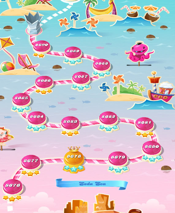 Candy Crush Saga level 8676-8690