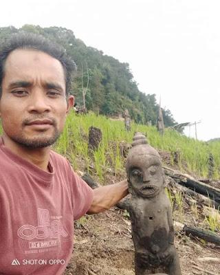 Penemuan Patung Jaman Purba di Meranti Omas Labuhanbatu Utara