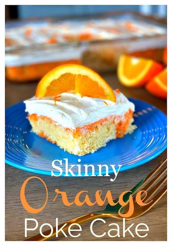 Skinny Orange Poke Cake Recipe