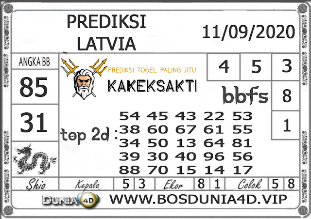 Prediksi Togel LATVIA DUNIA4D 11 SEPTEMBER 2020