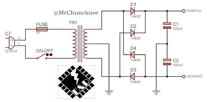 Fuente de alimentación simétrica usando los reguladores LM317 y LM337
