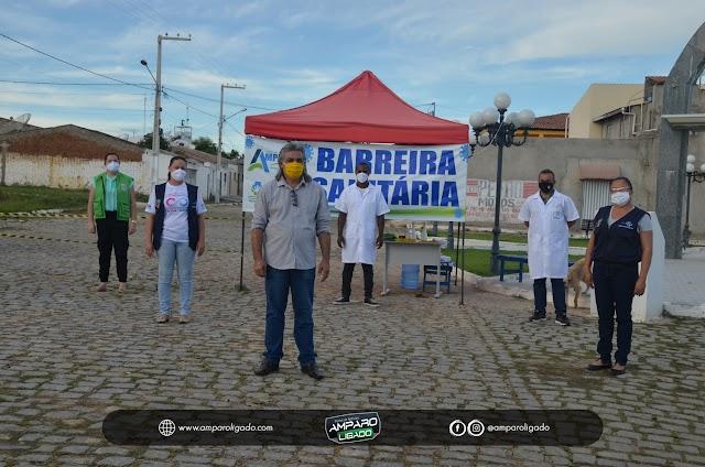 Prefeitura de Amparo prorroga por mais 15 dias as Barreiras Sanitárias Fixas instaladas nas entradas da cidade