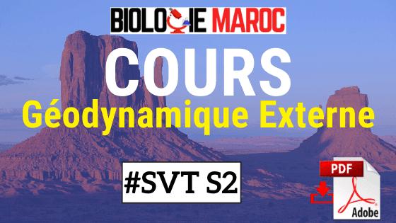 Cours de Géodynamique Externe SVT STU S2 PDF
