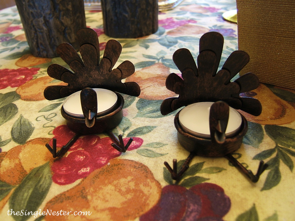 Turkey Tealight Holders at Michaels