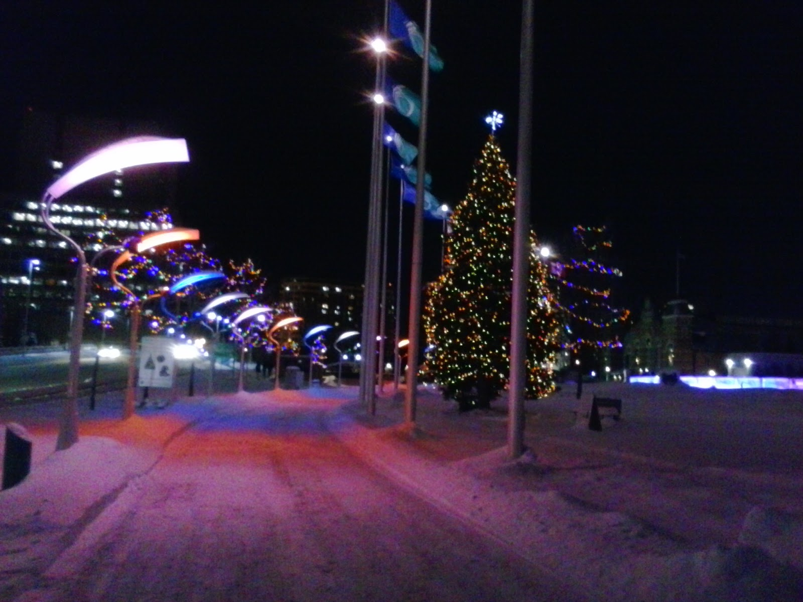 Christmas Decorations Up At Ottawa City Hall