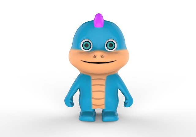 Baby Dragon Lego 3D Model Free Download Obj,Maya,Low Poly
