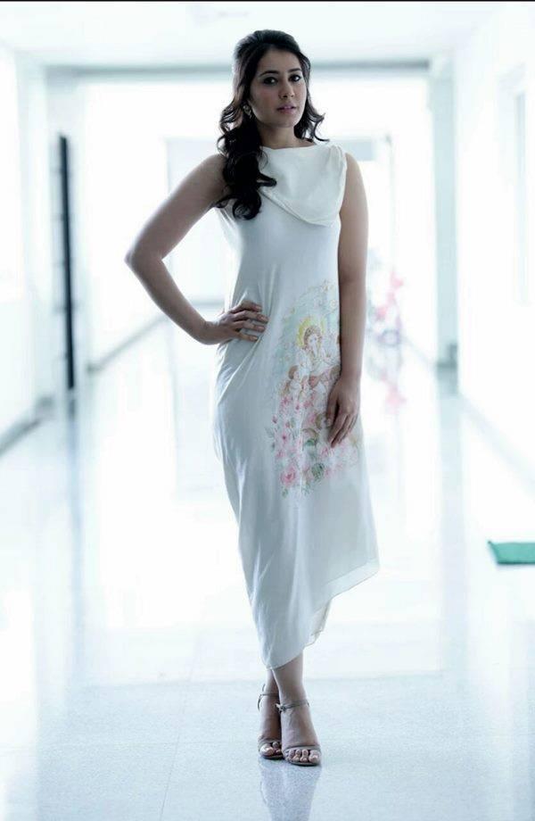 Rashi Khanna Hot Lokking Photos In White Dress