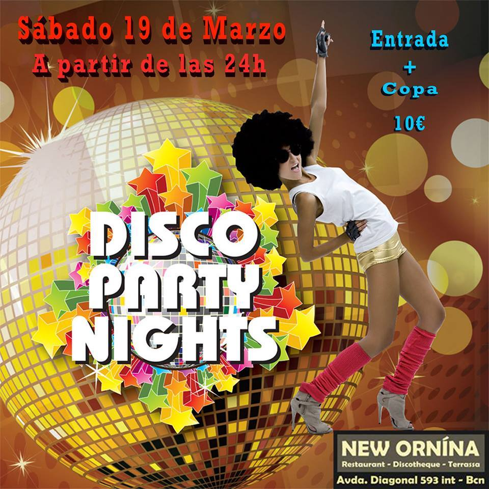 Flyer Disco Party Nights