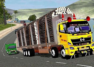 download mod bussid truck hino 500 muatan berat