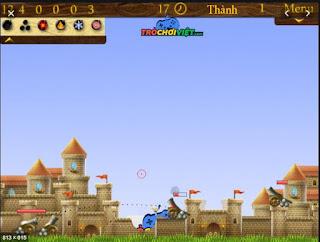 Chơi game tấn công pháo đài