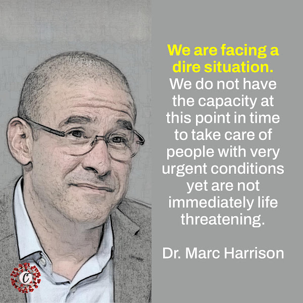 We are facing a dire situation. We do not have the capacity at this point in time to take care of people with very urgent conditions yet are not immediately life threatening. — Dr. Marc Harrison. the chief executive of Intermountain Healthcare
