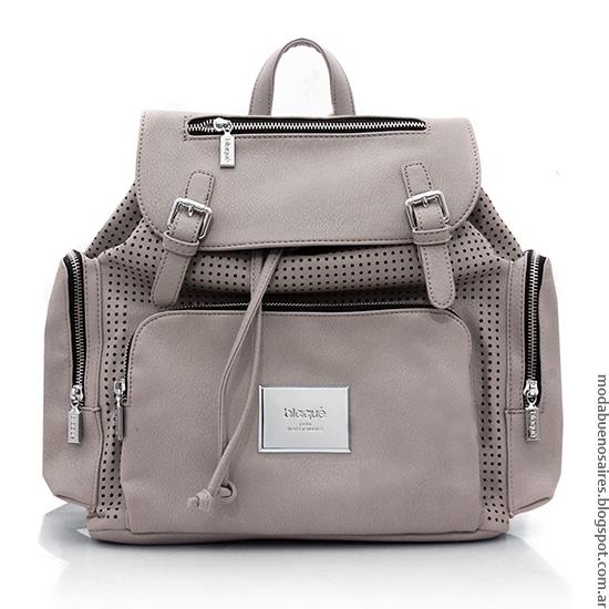 Moda carteras, bolsos, mochilas otoño invierno 2016 Blaquè.