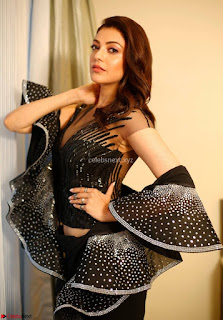 Kajal Aggarwal sizzles in Black Deep Neck Dress ~  Exclusive 005.jpg