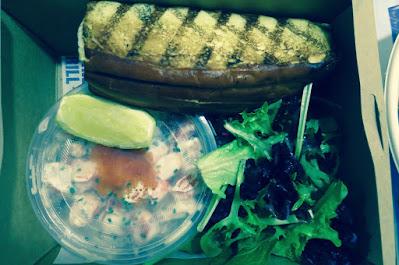 Market Grill, prawn roll