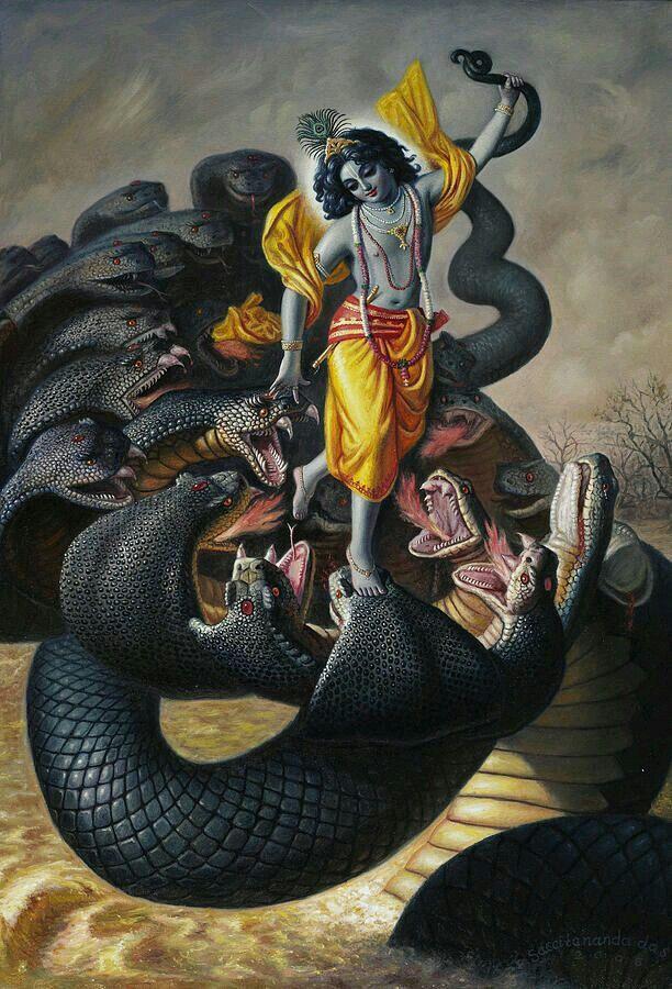 Krishna Dance on the Snake