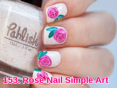 Rose Nail Simple Art