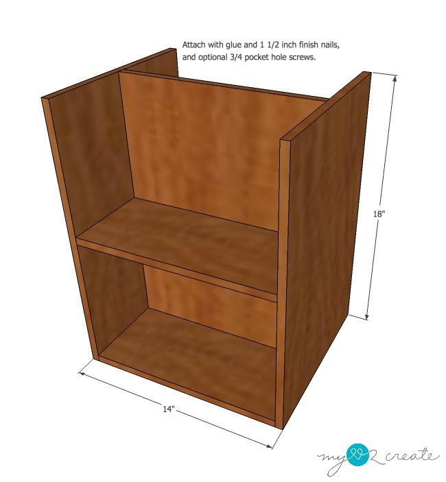 DVD storage drawers step 5