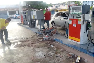 Criminosos usam serra para violar cofre de posto de combustíveis, na PB
