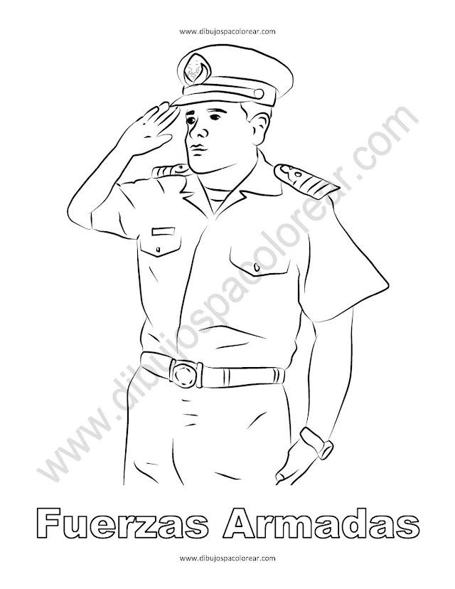 Fuerzas armadas dibujo para colorear