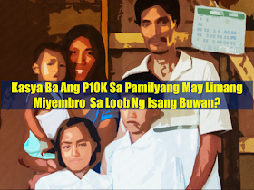 "Most Filipino workers usually earn more or less P10-15K monthly, some earn even less. It is where they get their budget for every need of their family— their daily expenses, payment for rent, mortgages, bills and everything. That is the reason why many Filipinos try their luck in applying for jobs abroad in search of greener pasture. With salary much bigger than they could get compared to local jobs, overseas Filipino workers (OFW) were forced to leave their family behind and work abroad.  But according to a statement from National Economic Development Authority (NEDA), P10,000 is enough for a family of five to live a decent life. Advertisement        Sponsored Links       In a sample household budget cited by NEDA, P3,834 is enough to feed the same family of five for 30 days.   NEDA figure said that P127 per day could be enough to feed the entire five persons for a month.  However, labor groups do not agree with the statement released by NEDA deeming it as inaccurate and flawed.   Edillon already issued a clarification and said that her statement was taken out of context.  The number was simply a ""hypothetical figure"" to show how a family of five can apportion the money to certain commodities, she said in a separate interview on ""Dobol B sa News TV"".  The P127 a day for food expenses for a family of five is a very low government standard, Tanjusay said.  The government must set the standard at a modest and acceptable level after reflecting the realities on the ground, Tanjusay noted.  The living standard for a Filipino family of five should be P1,200 a day and P400-P600 a day of the amount should go to food expenses alone, the group said.  READ MORE: Do You Want College Scholarship? Check This Out Now!    What Is SSS PESO Fund And How You Can Invest In It  No HSWs Has Been Sent To Kuwait Yet After Lifting Of Ban    In Demand College Courses Which Only A Few Take Up    OFWs Must Save, Get Insurance And Have An Investment"