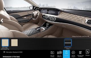 Nội thất Mercedes Maybach S500 2017 màu Vàng Silk 965