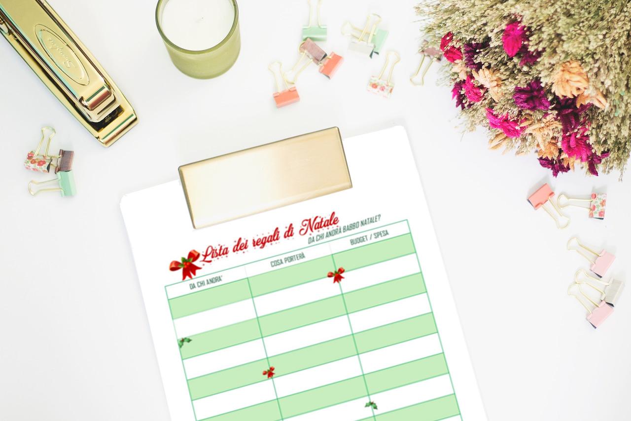 Lista dei regali di Natale