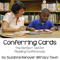 Improve your student reading conferences with these handy conference cards.