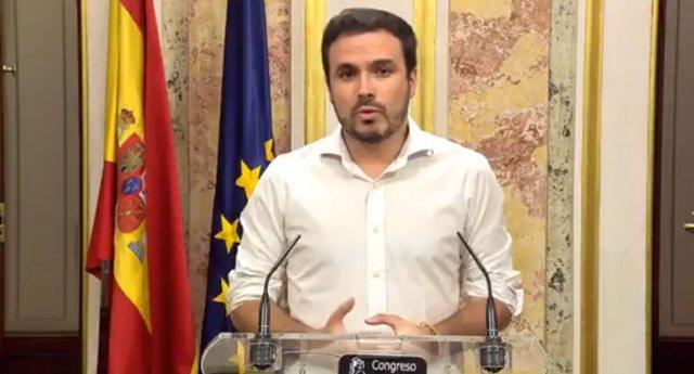 """Alberto Garzón: """"Una repetición electoral es una segunda oportunidad para las derechas reaccionarias"""""""