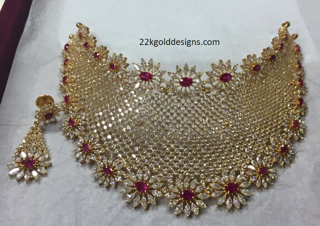 Bridal Choker set in CZS