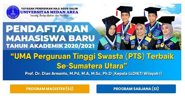 Pendaftaran Mahasiswa Baru Universitas Medan Area - PMB UMA