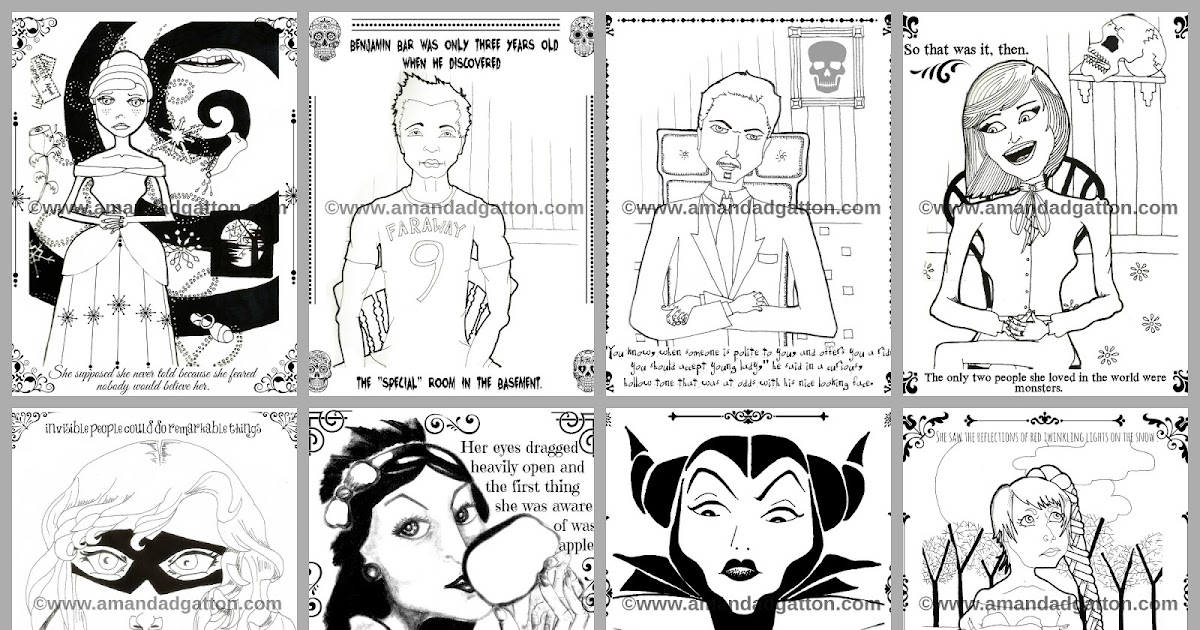 Grimdol Fair: FREE Coloring Pages (Dark Fairy Tale) From
