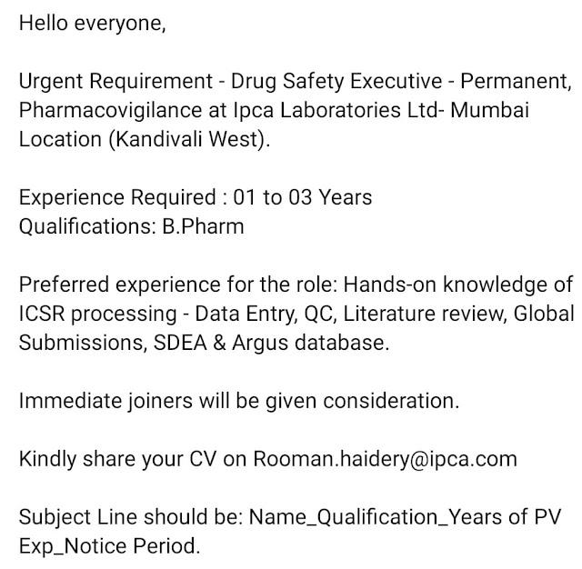 Pharma-Fresher-job