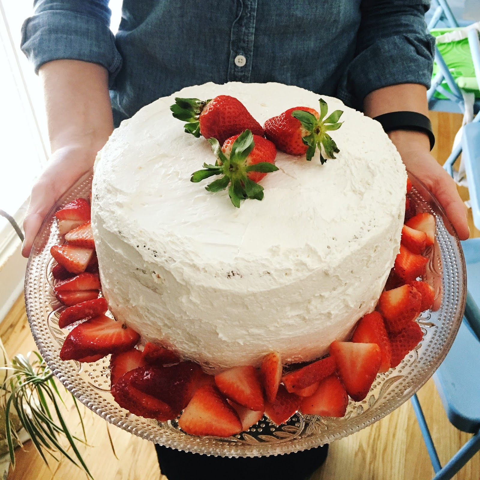 southern living strawberry cake