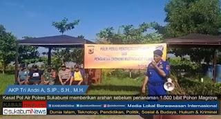 Kasat Polair Polres Sukabumi Peduli Penghijauan Pantai