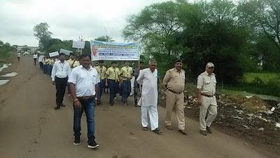 गांधी जयंती के उपलक्ष्य में लुकवासा में निकाली बच्चो ने रैली