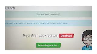 Halaman register lock yang harus dibuka