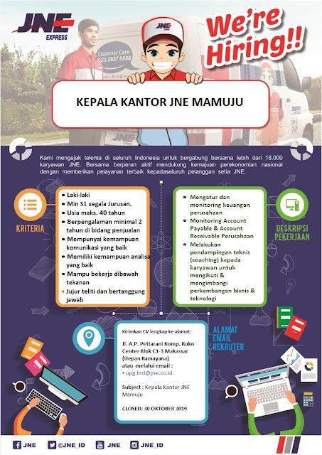 Lowongan Kerja JNE Makassar Oktober 2019